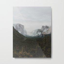 Yosemite Fog Metal Print