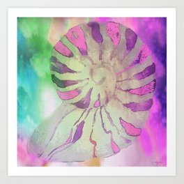 NAUTILUS SEA SHELL IMPRESSION Art Print
