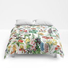 Adolphe Millot - Fleurs A - French vintage poster Comforters