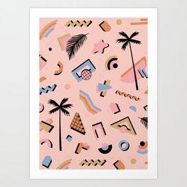 Venice CA vibes Art Print