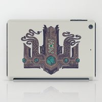 lovecraft iPad Cases featuring The Crown of Cthulhu by Hector Mansilla