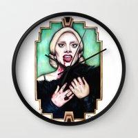 ahs Wall Clocks featuring LG as The Countess - AHS Hotel by boypetal