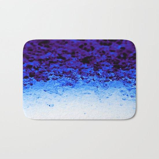 Indigo Blue Ombre Crystals Bath Mat