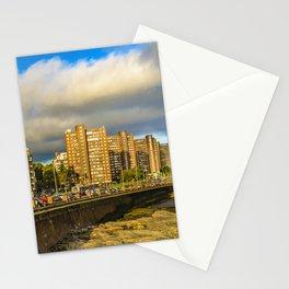 Coastal Urban Scene, Montevideo, Uruguay Stationery Cards