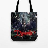 dracula Tote Bags featuring Dracula by nurfiestore2u