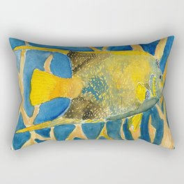 tropical fish square painting Rectangular Pillow