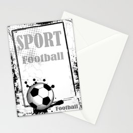 football frame Stationery Cards