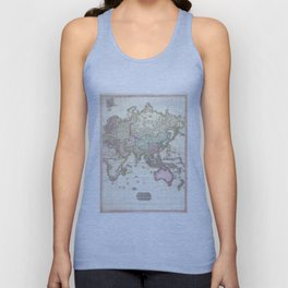 Vintage Map of The Eastern Hemisphere (1818) Unisex Tank Top