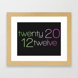 twentytwelve 2012 Framed Art Print