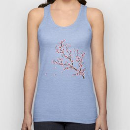 Cherry Blossom Branch Unisex Tank Top