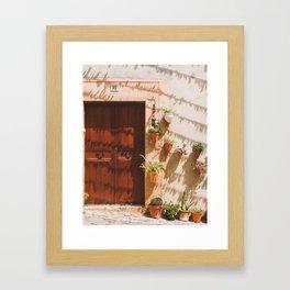 Doors of Valldemossa: 11 Framed Art Print