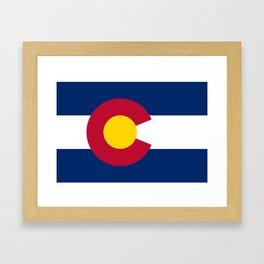 Colorado flag - High Quality image Framed Art Print