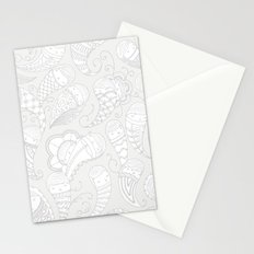 Ghostly Paisley: Dust to Dust Stationery Cards