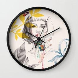Floral Secret Wall Clock