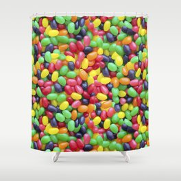 Jelly Bean Candy Photo Pattern Shower Curtain
