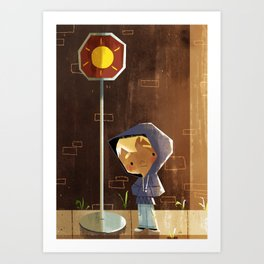 On The Sunny Side Of The Street Art Print