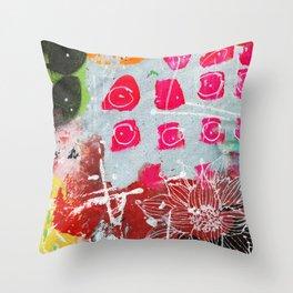 pink dots Throw Pillow