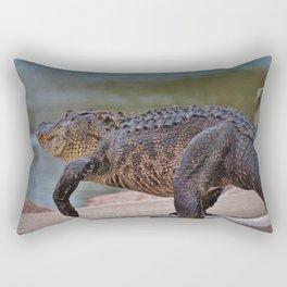 Giant Alligator Rectangular Pillow