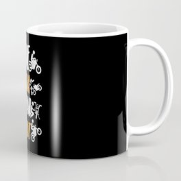 Motorbike Motorcyclist Motorcycle Machine Coffee Mug