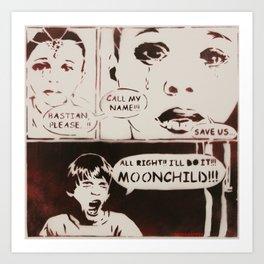 Moonchild by MrMAHAFFEY Art Print
