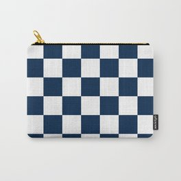 Checkered - White and Oxford Blue Carry-All Pouch