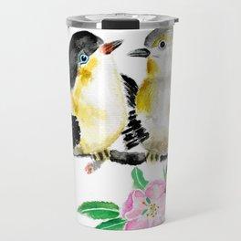 birds and apple flower blossom Travel Mug