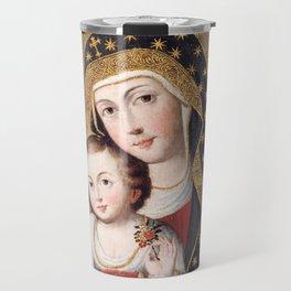 Madonna and Child with Bird, 1745 - Peru Travel Mug