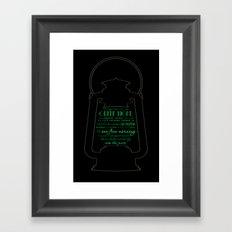 Gatsby believed in the green light Framed Art Print