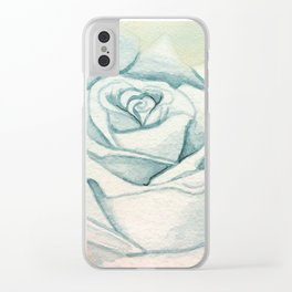 PASTEL ROSE Clear iPhone Case
