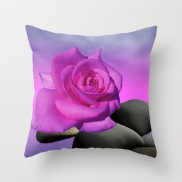 just a purple rose Throw Pillow