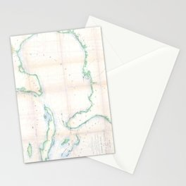 Vintage Map of The Gulf of Mexico (1852) Stationery Cards