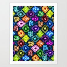 Geode Delight! Art Print