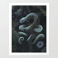 snake Art Prints featuring Snake by Miguel Co