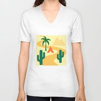 camping V-neck T-shirts featuring Camping by Mr & Mrs Quirynen
