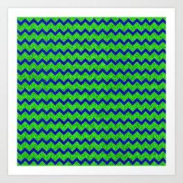 Chevron Glitter Pattern 01 Art Print