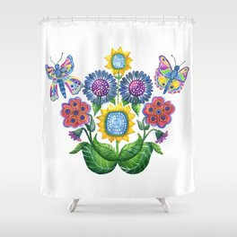 Butterfly Playground Shower Curtain