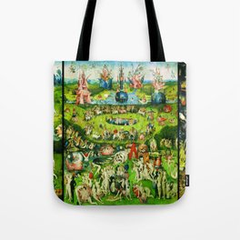 The Garden of Earthly Delights Triptych by Hieronymus Bosch Tote Bag