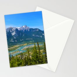 Overlooking the Athabasca River from the Morrow Peak Hike in Jasper National Park, Canada Stationery Cards