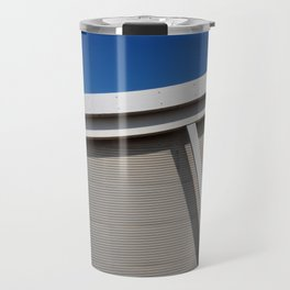 modern architecture - curve and sky Travel Mug