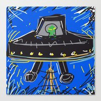 ufo Canvas Prints featuring Ufo by Rimadi