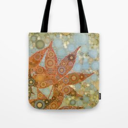 Perky Maple Leaf Abstract Tote Bag
