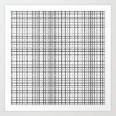 Weave Black and White Art Print