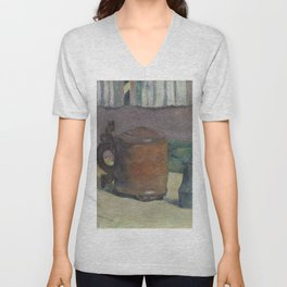 Paul Gauguin - Wood Tankard and Metal Pitcher (1880) Unisex V-Neck