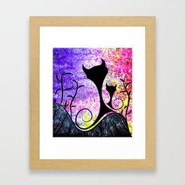 Messemios - black cats Framed Art Print