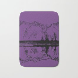 Knik River Mts. Pop Art - 2 Bath Mat