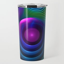 Beautiful Rainbow Marble Fractals in Hyperspace Travel Mug