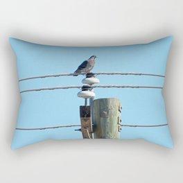 Pigeon on a Pole Rectangular Pillow