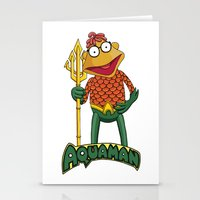 aquaman Stationery Cards featuring Scooter the Aquaman by JoshEssel