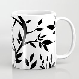 Black Trees on White Coffee Mug