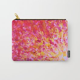 ROMANTIC DAYS - Lovely Sweet Romance, Valentine's Day Sweetheart Pink Red Abstract Acrylic Painting Carry-All Pouch